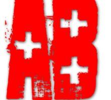 Blood Type AB +  Sticker