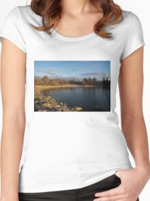 Early Morning Breeze - Lake Ontario, Toronto, Canada Women's Fitted Scoop T-Shirt