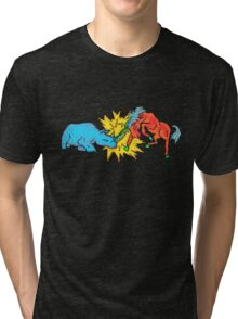 Battle of the Horned Beasts Tri-blend T-Shirt