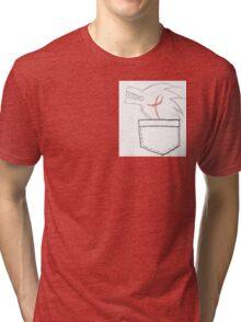 Wolf In Pocket Tri-blend T-Shirt