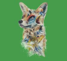 Heroes of Lylat Starfox Inspired Classy Geek Painting Kids Tee