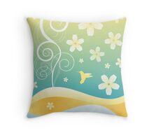 Floral Decor Vector Illustration Throw Pillow