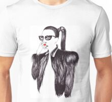 Lady In Black Unisex T-Shirt