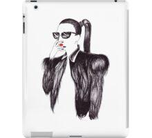 Lady In Black iPad Case/Skin
