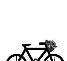 Bike With Flowers by eliannadraws