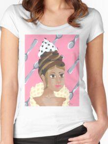 chocolate caramel ice cream Women's Fitted Scoop T-Shirt