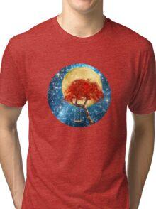 Swing Under a Golden Moon Tri-blend T-Shirt