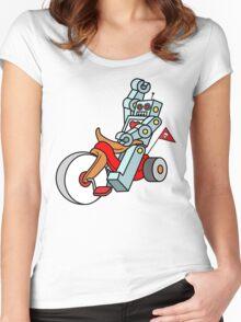 hot wheeling robot love Women's Fitted Scoop T-Shirt