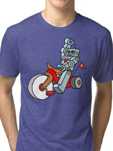 hot wheeling robot love Tri-blend T-Shirt
