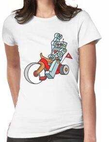 hot wheeling robot love Womens Fitted T-Shirt