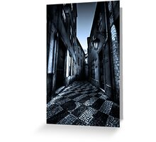 Alley of broken hearts challenge Greeting Card