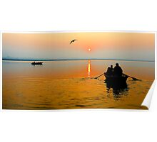 Sunrise in Varanasi Poster