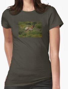 Pronghorn Antelope Womens Fitted T-Shirt