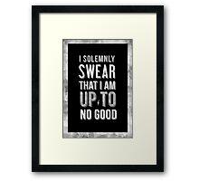 Harry Potter Solemnly Swear Framed Print