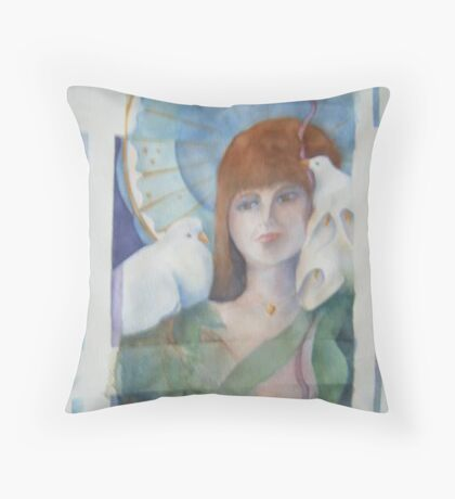 Her world Throw Pillow