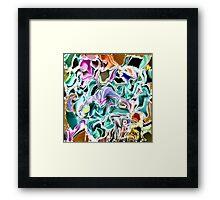( I PUSH BACK  )  ERIC  WHITEMAN ART  Framed Print