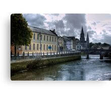 View of the Canal - Cork, Ireland Canvas Print