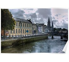 View of the Canal - Cork, Ireland Poster