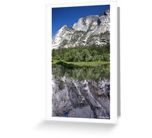 Half Dome At Mirror Lake Greeting Card