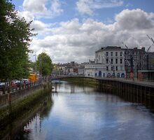 View from a Bridge - Cork, Ireland by Mark Richards