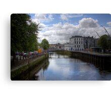 View from a Bridge - Cork, Ireland Canvas Print