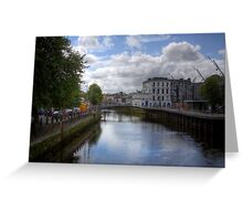 View from a Bridge - Cork, Ireland Greeting Card