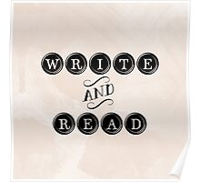 Write and Read Poster
