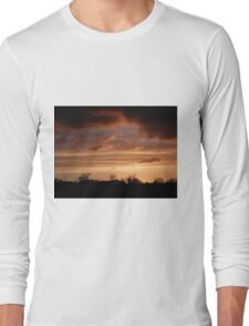 Winter Sky Burn  Under  Limavady Sky Co. Derry, Ireland Long Sleeve T-Shirt