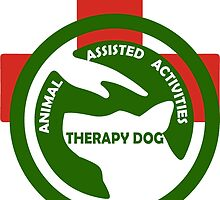 ANIMAL Assisted Activities  - THERAPY DOG logo 2 by SofiaYoushi