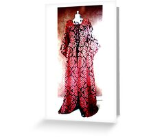 Medieval Couture - handcrafted costume Greeting Card