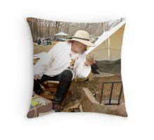 Primitive Camping Throw Pillow