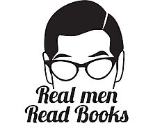 Real Men Read Books (not just magazines and the paper and stuff) Photographic Print