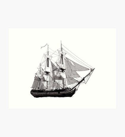 HMS Surprise Art Print