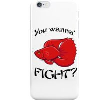 The Great Fighting Fish iPhone Case/Skin