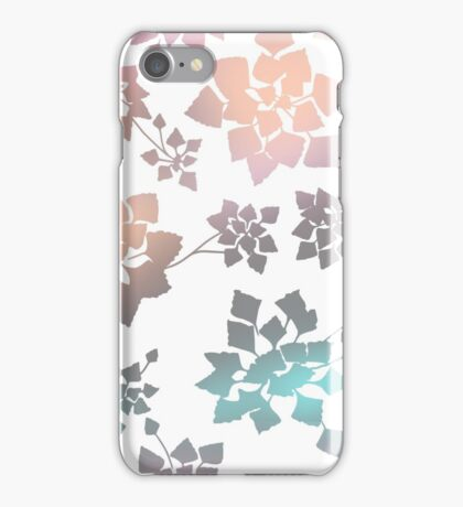 Water caltrop pattern in white and pastel ombre iPhone Case/Skin