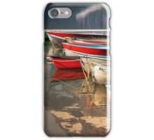Boat Reflections Cameron Lake iPhone Case/Skin