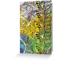 Yellow & Green Abstract Greeting Card