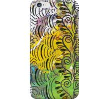 Yellow & Green Abstract iPhone Case/Skin