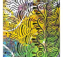 Yellow & Green Abstract by bohemiangirl