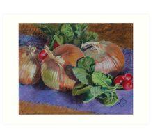 Onions n Radishes Art Print