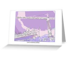 Crane in the landscape Greeting Card