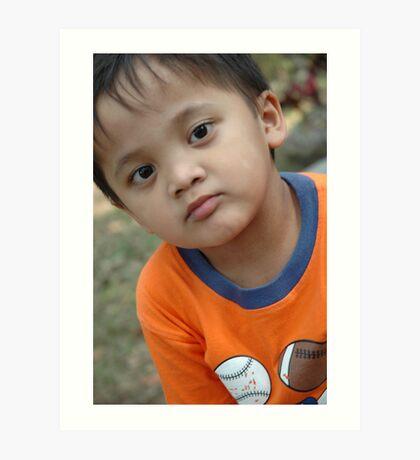 young asian boy Art Print