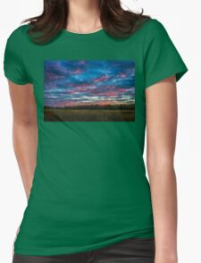 Dusk flame thrower Womens Fitted T-Shirt