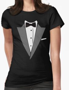 Casual Tuxedo Womens Fitted T-Shirt
