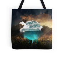 Elements collide. Tote Bag