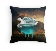 Elements collide. Throw Pillow