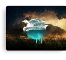 Elements collide. Canvas Print