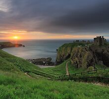 Dunnottar Castle at Sunrise by Maria Gaellman