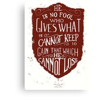 Conviction (red) Canvas Print