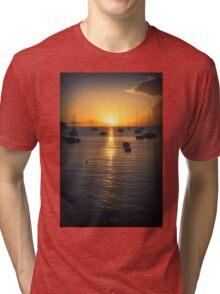 Sea Sunset Waves Tri-blend T-Shirt